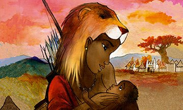 image gros plan yennega la femme lion yann dégruel delcourt jeunesse