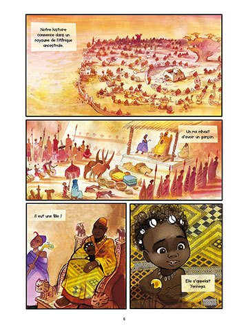image planche 4 yennega la femme lion yann dégruel éditions delcourt jeunesse