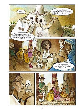 image planche 2 yennega la femme lion yann dégruel éditions delcourt jeunesse