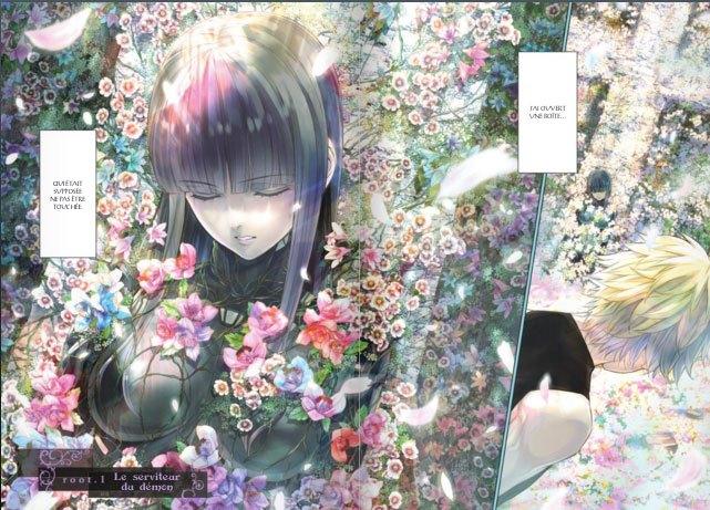 image double page couleur 7th garden volume 1 mitsu izumi delcourt tonkam