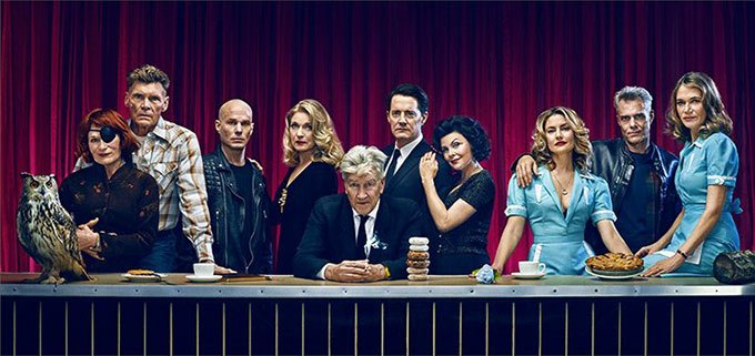 image david lynch cast twin peaks saison 3 photoshoot entertainement weekly