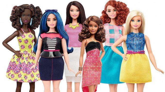 image silhouettes poupées barbie fashionistas mattel 2016 b
