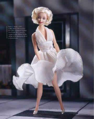 image poupée marilyn monroe sept ans de réflexion livre barbie the icon massimiliano capella