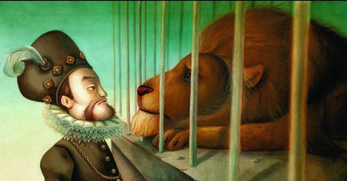 image rudolf II lion illustration benjamin lacombe l'ombre du golem