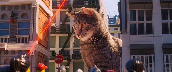 image chat géant laser lego ninjago le film
