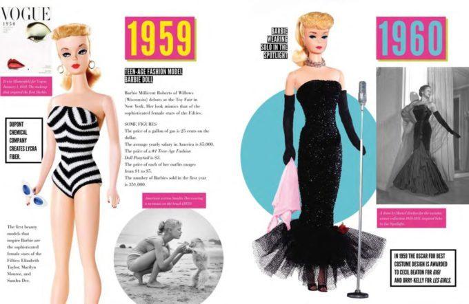 image double page premières poupées mattel livre barbie the icon massimiliano capella