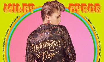 image gros plan pochette younger now miley cyrus rca records