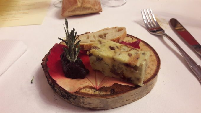 image nougat fourme de montbrison confit oignons roanne table ouverte 2017 restaurant ma chaumière