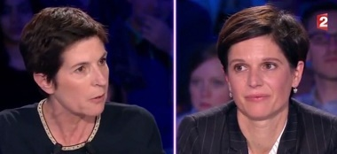 image christine angot sandrine rousseau clash on n'est pas couchés france 2
