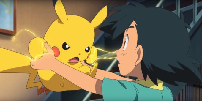 image pikachu énervé électrique sacha pokémon le film je te choisis