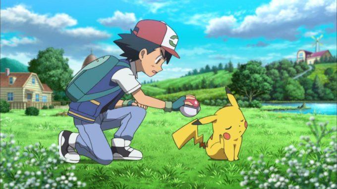 image sacha pikachu boudeur pokéball pokémon le film je te choisis