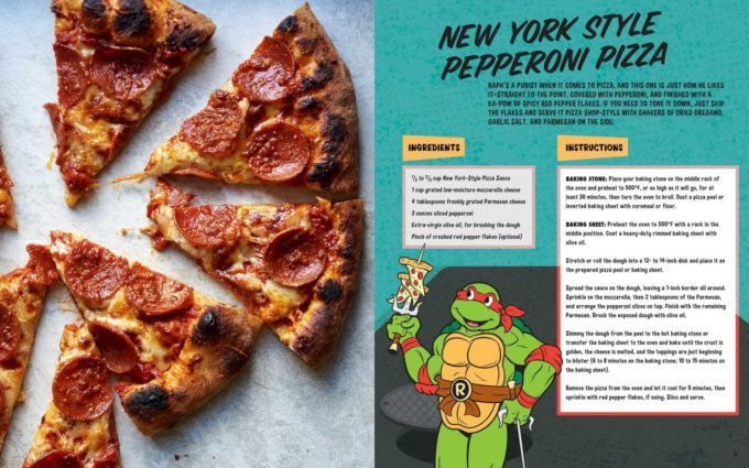 image pizza pepperoni tortues ninja cookbook