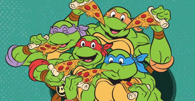 image illustration tortues ninja 90 pizza cookbook