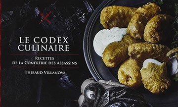 image gros plan couverture assassin's creed le codex culinaire hachette heroes