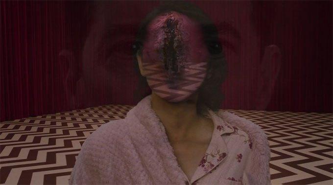 image naido diane visage ouvert red room twin peaks saison 3 épisode 17