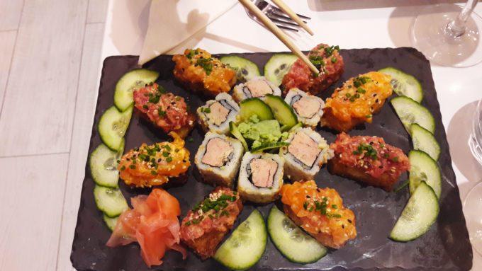 image sushis inferno exquis foie gras bozen paris