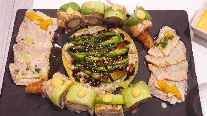 image pizzette rainbows sashimis saumon mi-cuits bozen paris
