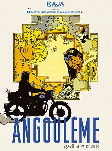 image affiche festival international bande-dessinée angoulême 2018