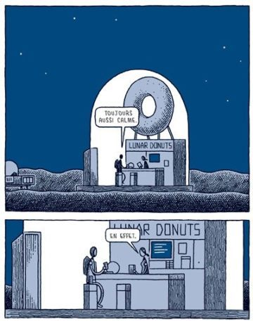 image donuts bd police lunaire tom gauld 2024 éditions