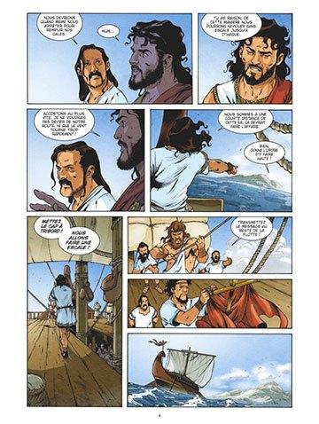 image planche 1 l'odyssée tome 1 la colère de poséidon luc ferry éditions glénat