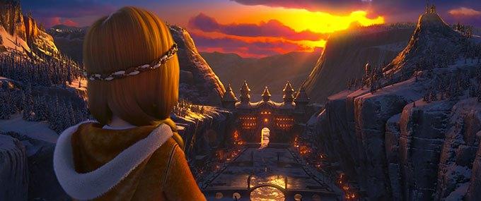 image gerda coucher de soleil la princesse des glaces
