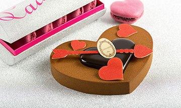 image coeur entremets chocolat ladurée saint-valentin
