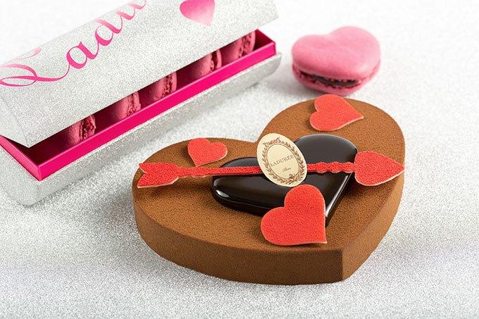 image entremets déclaration d'amour saint-valentin ladurée