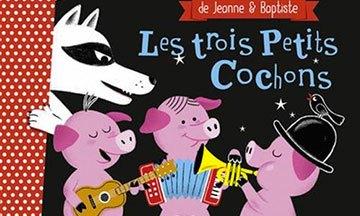 image gros plan couverture les trois petits cochons éditions gründ