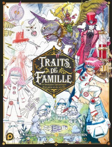 image couverture traits de famille thomas romain kuropop