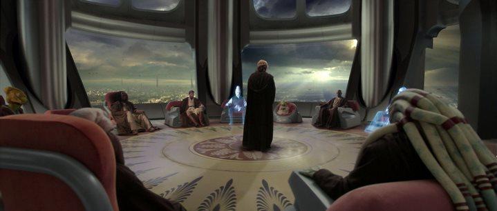 Le Conseil des Jedi dans Star Wars, Episode III, La Revanche des Sith.