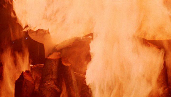 L'incinération de Dark Vador à la fin de Star Wars, Episode VI, Le Retour du Jedi.