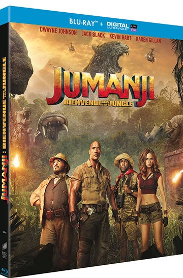 image boîtier blu-ray jumanji bienvenue dans la jungle sony home entertainment