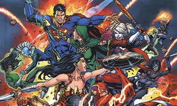 image gros plan couverture justice league vs. suicide squad éditions urban comics