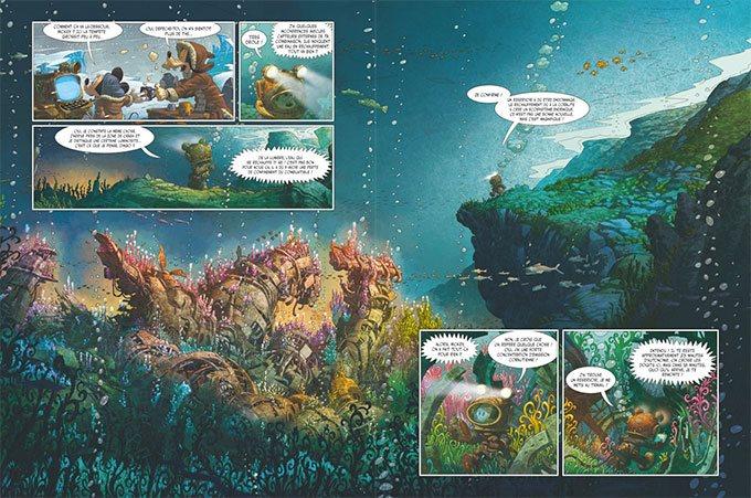 image double-page mickey et l'océan perdu denis-pierre filippi silvio camboni éditions glénat