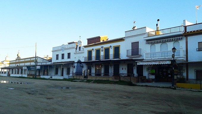 image maisons village el rocio andalousie espagne