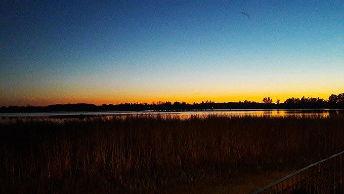 image coucher de soleil marais el rocio