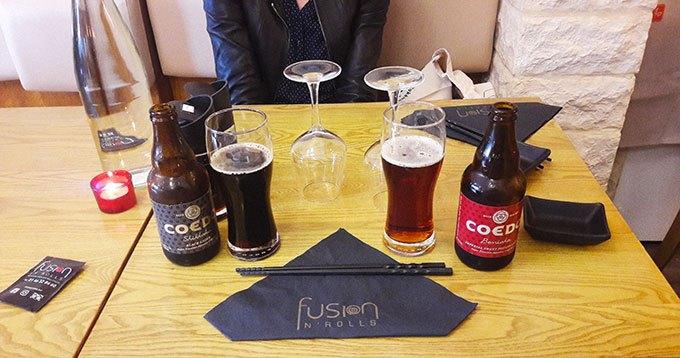 image bières japonaises coedo restaurant fusion n'rolls bourg la reine