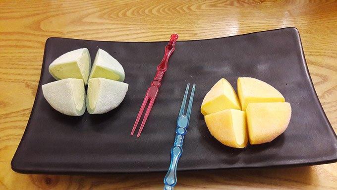 image mochi glacé thé vert fruit de la passion restaurant fusion n'rolls bourg-la-reine