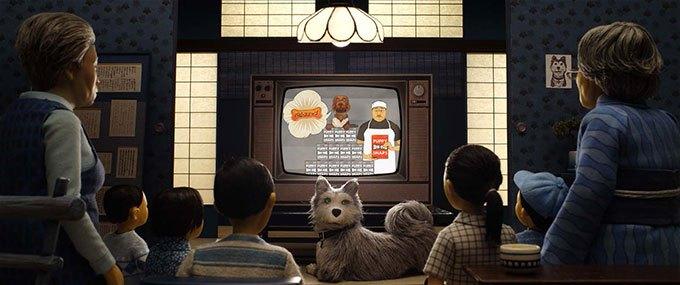image télévision l'île aux chiens wes anderson