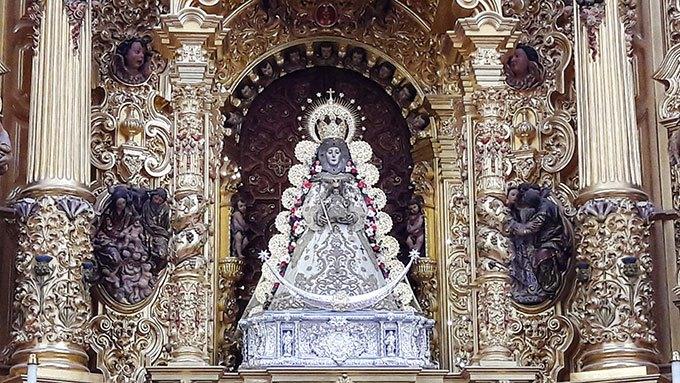 image la vierge d'el rocio église notre dame andalousie espagne