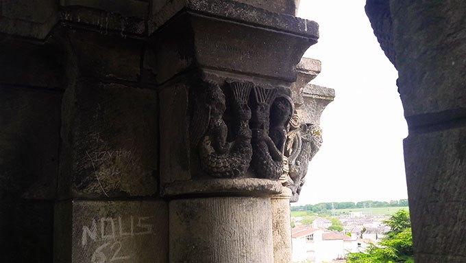 image clocher abbaye aux dames saintes