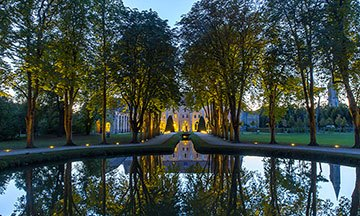 image gros plan abbaye royaumont nuit