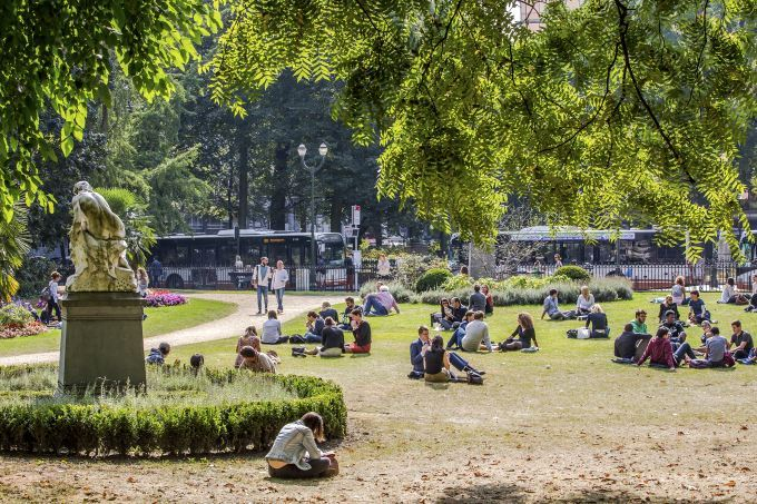 image parc bruxelles quartier europeen