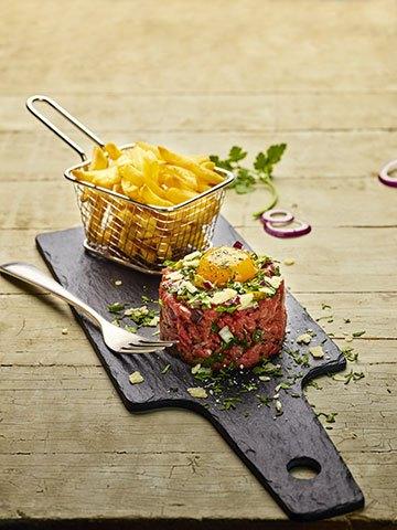 image tartare de charolais aux couteaux campanile philippe renard