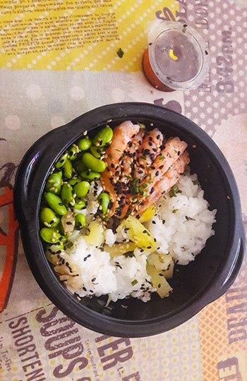 image poke bowl crevettes comptoir sushi