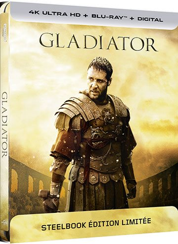 image boîtier blu-ray 4k uhd steelbook gladiator universal pictures video
