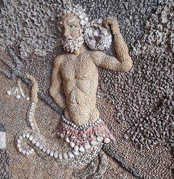 image décoration grotte minérale château de la bâtie d'urfé