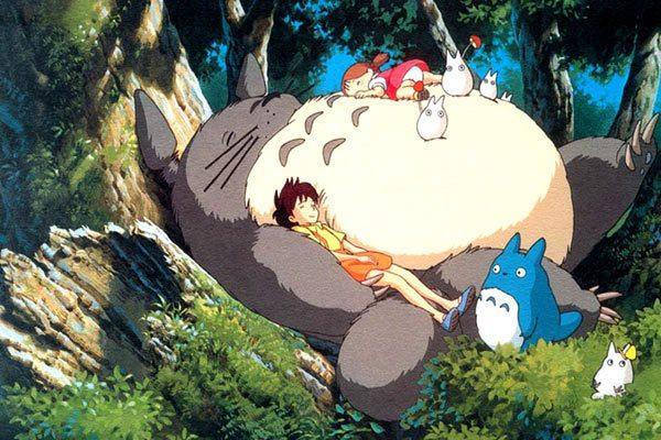 image satsuki mei sieste forêt mon voisin totoro hayao miyazaki