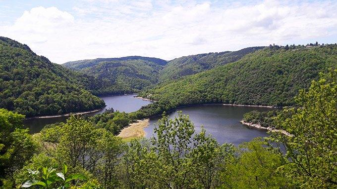 image vue lac gangent saint-victor-sur-loire