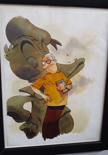 image portrait carl barks donald duck par zep 23e rencontres de la bande-dessinée d'Amiens